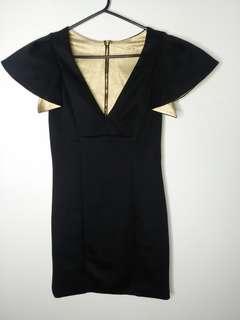 Gold&Black Party Dress