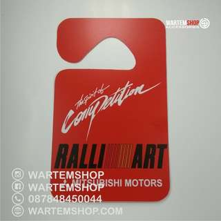 GANTUNGAN SPION /PARKING PERMIT RALLIART