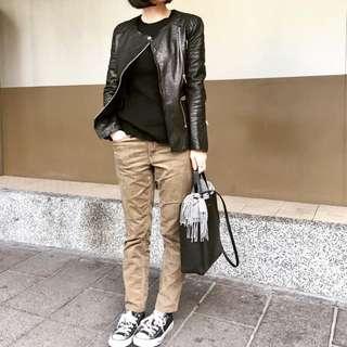 Muji有機棉混蠶絲寬螺紋針織衫