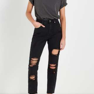 Cotton On High Waisted Ripped Jeans