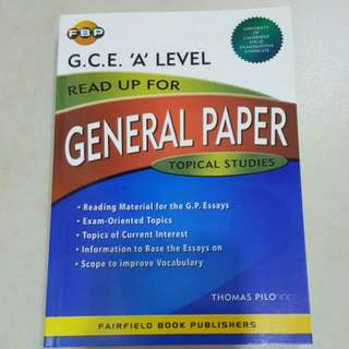 FIXED PRICE📬G.C.E. A Level Read Up For General Paper Topical Studies Guide Book