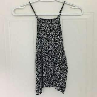 Brandy Melville - High Neck Floral Tank