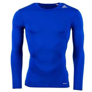 Royal blue adidas Techfit compression climate long sleeve Pro Combat Compression Tights Wear
