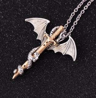 Game of Thrones Dark Dragon Necklace
