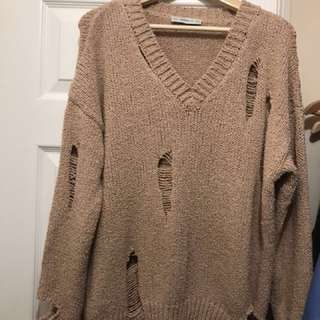 Zara distressed knit