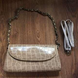 Clutch Faux Crocodile-skin Bag