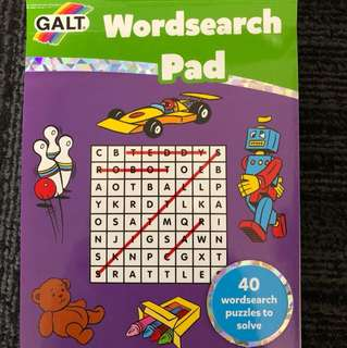 Galt Wordsearch Pad 40 wordsearch puzzles to solve
