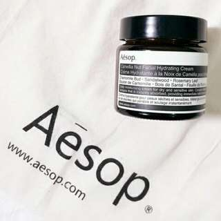 全新 Aesop 山茶核仁滋潤面霜 Camellia Nut Facial Hydrating Cream 60ml