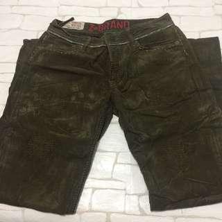 Z Brand Olive green corduroy pants