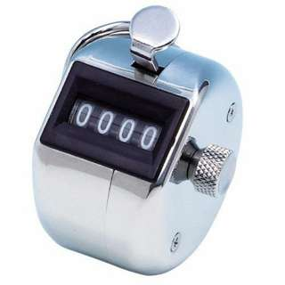 Hand Tally Counter Stainless Steel with Cord