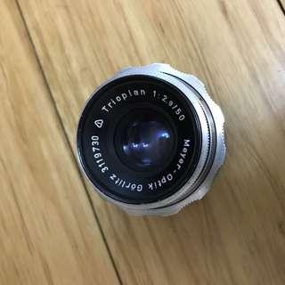 Meyer Optik Trioplan 50mm 2.9 EXA Mount