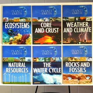Planet Earth Series (6 book set - Complete): Ecosystems, Rocks & Fossils, Weather & Climate, Water Cycle, Core & Crust, Natural Resources (Children/Young Adult Non-Fiction Reference)