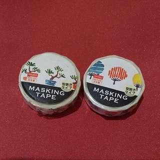 2 Washi Tapes from Fujiyoshida Daiso Japan