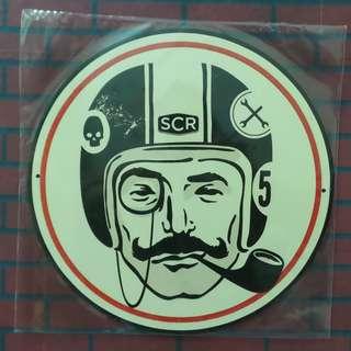 D9 Tin sign SCR Cafe Racer
