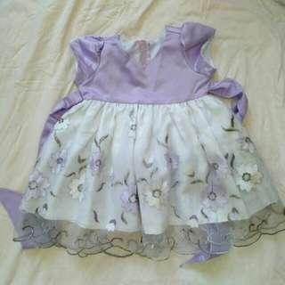 Purple Floral Dress 18M