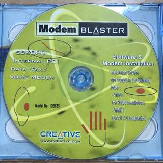CREATIVE Modem BLASTER and Sound BLASTER 16