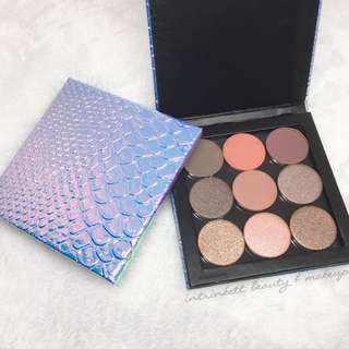 FREE NM Mermaid Palette Cosmetic Makeup Holographic Eyeshadow Custom Magnetic Small Z-palette