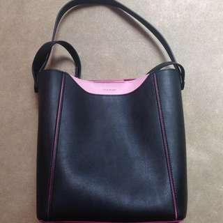 Marcs Black & Pink Hand Bag / Cross Body Bag
