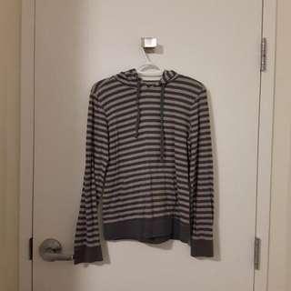 Bluenotes grey striped sweater