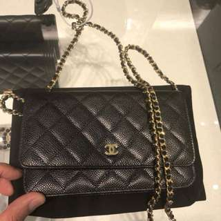 Chanel Classic Wallet On Chain WOC