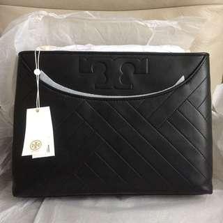 Tory Burch Alexa Center-zip Tote 100% new& real 綿羊皮手袋