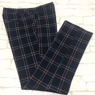 K-7 plaid casual formal trousers