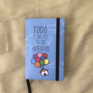 Up No-Line Notebook from Spain (Small)