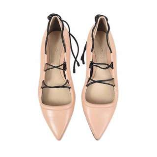 New 3.1 Phillip Lim Women's Pink Martini Lace Up Flat - Sz 35