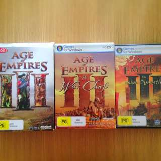 Age of Empires 3 PC with 2 expansions