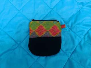 Handmade coin purse with zipper