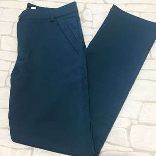 Casual shiny blue green trousers size 33