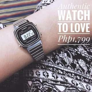 Authentic Silver Casio Vintage Watch