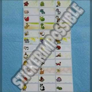 Animal & Insect Name Sticker