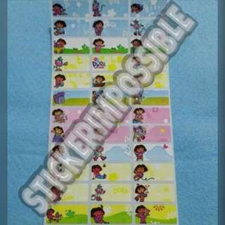 Dora Name Sticker