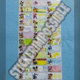 Mickey & Friends Name Sticker