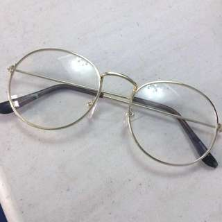 Gold Specs Eyeglasses Trendy