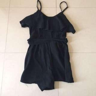 Black Playsuit size 6