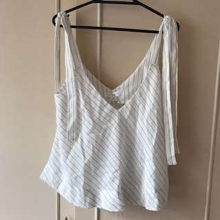 Lulu and Rose White Striped Top