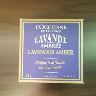 BN Loccitane Lavender Amber Scented Candle