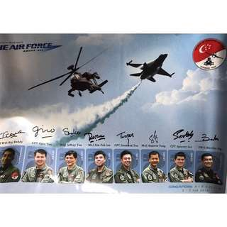 RSAF Black Knights Singapore Air Show 2010 Signed Poster