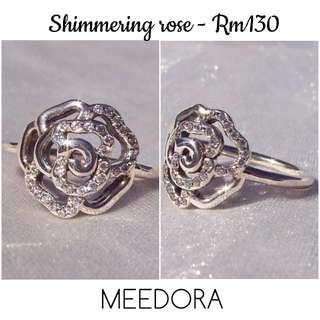 SHIMMERING ROSE RING PANDORA