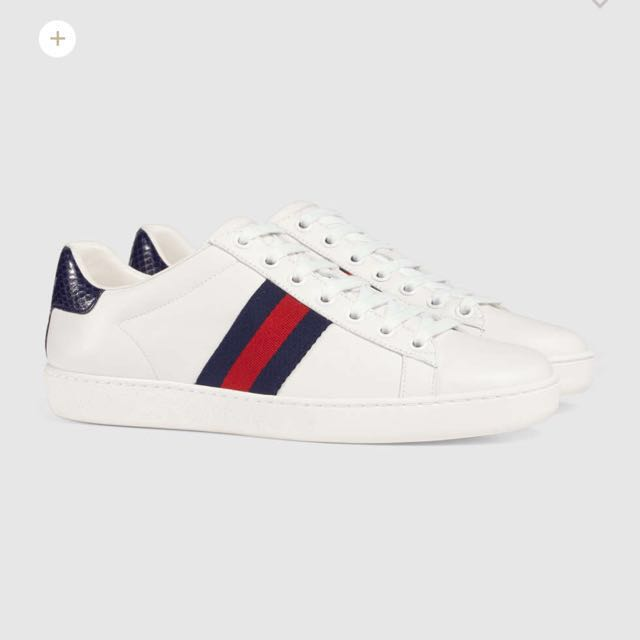 100% Auth BNIB Gucci Ace Low Top Navy