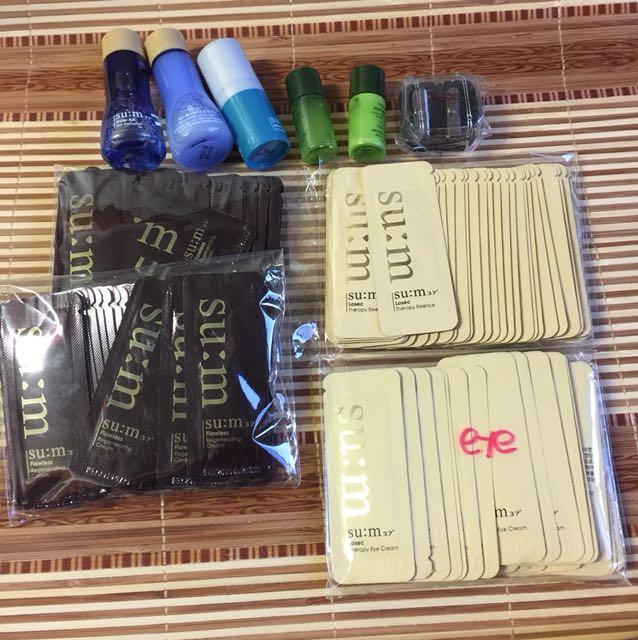 100+ skin care sample plus BVLGARI cosmetics pouch