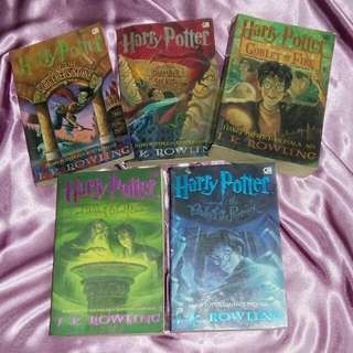 Novel Harry Potter 1,2,4,5,6
