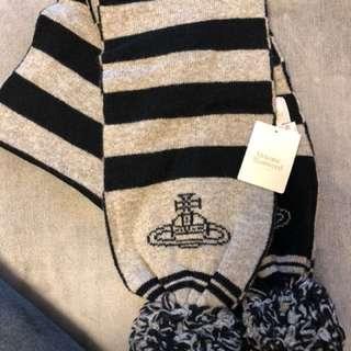 日本制 Vivienne Westwood 限量版羊毛頸巾