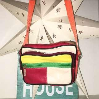 Vintage Colour Block Bag