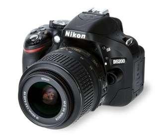Nikon D5200 with 18-55mm Kit Lens