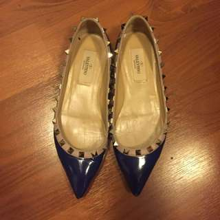 Valentino rockstud flats shoes - size 35.5