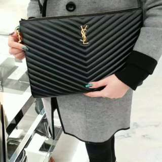 💯 AUTHENTIC YSL LARGE CLUTCH