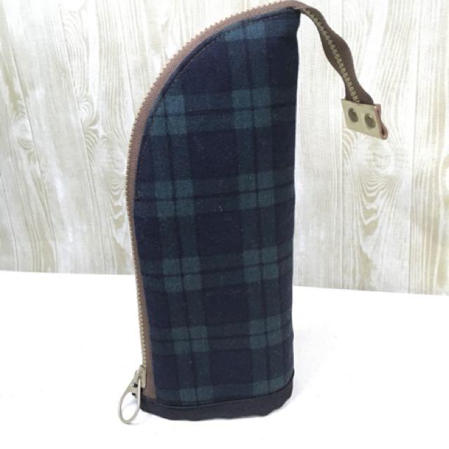 精選日本棉麻布純手工製作直立式筆袋10*20公分可選布做